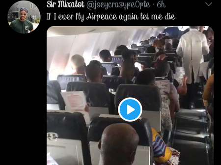 Check Out What Passengers Were seen Doing In An Aeroplane That Got Reactions (VIDEO)