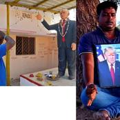 Meet the man who built a statue of Donald Trump and worshipped it. After that, he died