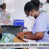 Ghana President Nana Akufo Addo And Wife Take COVID-19 Vaccine In Full Glare of The Public. (PHOTOS)