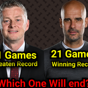 Check Out The Records Man U & Man City Will End If Either Of Them Wins Today
