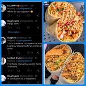 Mixed Reactions as Man Reveals the Content of Shawarma He Allegedly Bought Outside Nigeria