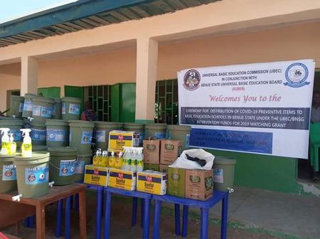 Benue State Govt Distributes Covid-19 Preventive Items To Basic Education Schools