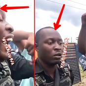 [VIDEO] Watch What Angry Residents Did To Policeman Who Almost Murdered A Motorist In Delta State