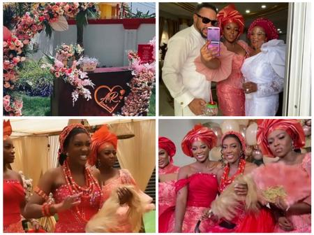 In case you missed it, here are 15 memorable scenes from Yvonne Okoro's sister, Roseline's Wedding.