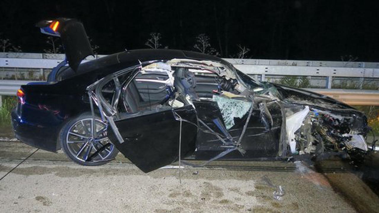 Fünf Verletzte bei Unfall mit 600-PS-Wagen auf A1 bei Wildeshausen