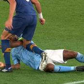 SEE Photos Of Former Madrid Star PEPE Bullying RAHEEM STERLING During The Man City vs Porto Game