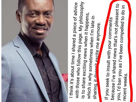 Isreal Laryea Has Sent A Strong Warning To His Facebook Followers Who Are Fond Of Doing This