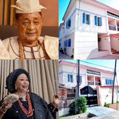 Alaafin of Oyo Gifted A House To 2 Wives Today, See The House & What Is Written on It (Photos)