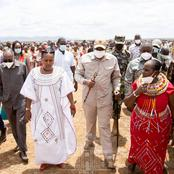 Songs And Dance as President Uhuru Gets a Warm Welcome on Friday (Photos)