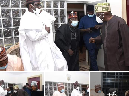 Check these pictures of prominent Nigerians that was received by the JAGABAN of Nigeria in his house