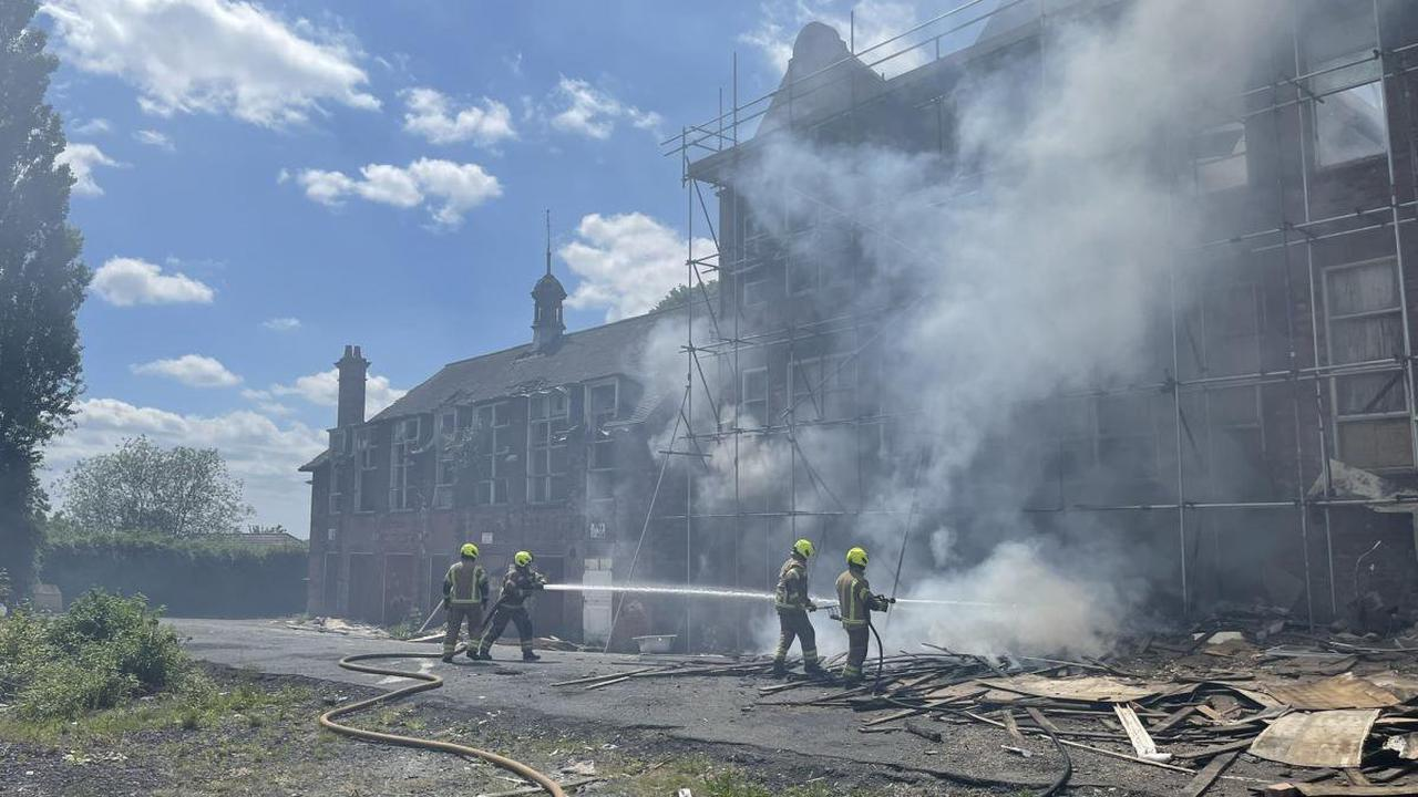 Firefighters issue warning after fire at derelict former Dudley school