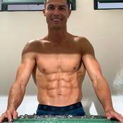 Behold Ronaldo's incredible six-packs