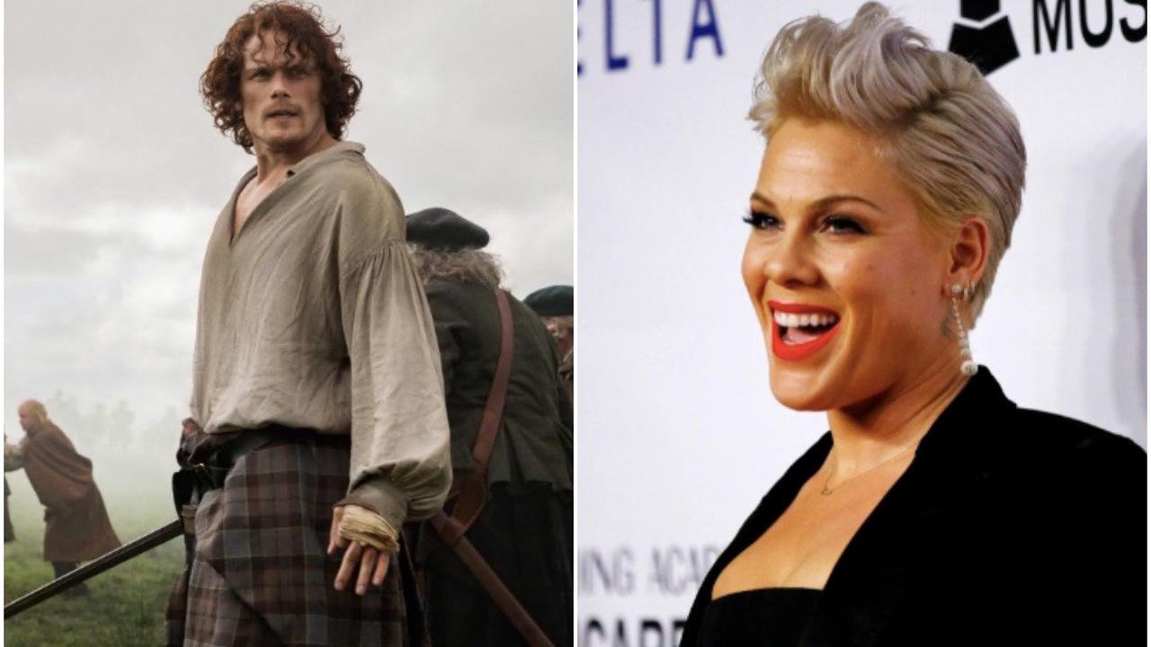 Sam Heughan asks Pink to sing on season 6 after she admits Outlander 'obsession'