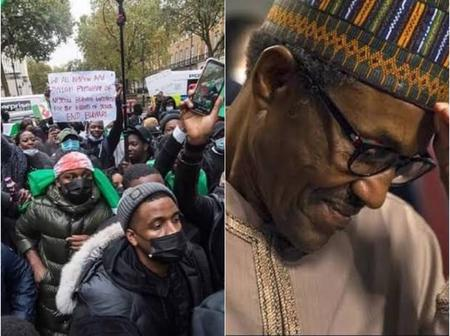 Today's Headlines: Nigerians Storm Buhari's Residence In UK, Demand His Return Home; Soldiers Kill 5 Youths Going For Wedding In Taraba