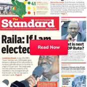 Raila: If I Am Elected, Ruto Punctured, Kenya's Richest Revealed In Newspapers Today
