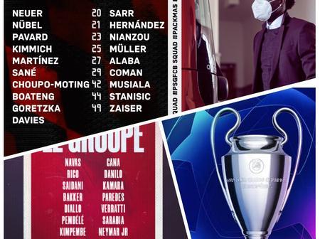 PSG Vs Bayern Munich: Squad List, Team News & Predicted Lineups