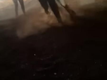 Footage is circulating on social media of a couple of men fighting outside a bar