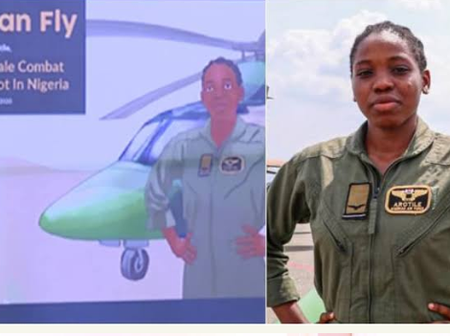 Arotile became a Heroine in History of Nigerian force, see the comic book made for her remembrance