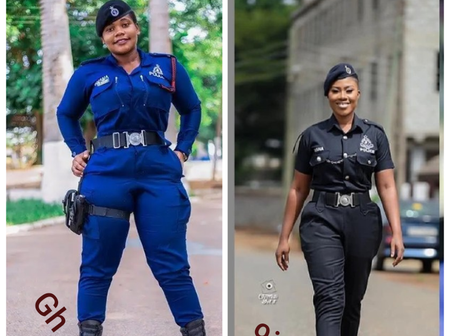 Ghana vs Nigeria Female Cops: Who Smiles Best, Looks Prettier and More Beautiful in Their Uniform?