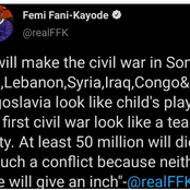 Femi Fani-Kayode Said 50million Nigerians Will Die If This Thing Happens In Nigeria Again