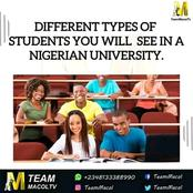 Different Types Of Students You Will See In A Nigerian University(Pictures)