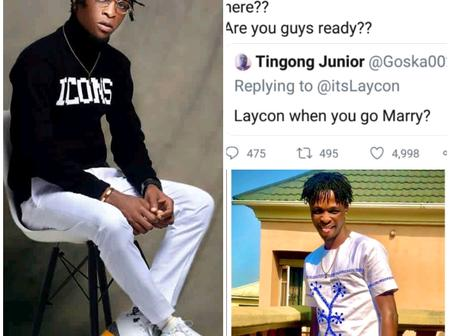 See The Reply Laycon Gave To A Fan Who Asked Him When He Will Get Married