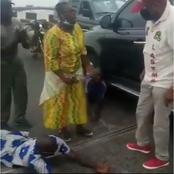 See the moment the GM of LASTMA himself apprehended a man driving one way on third mainland bridge.