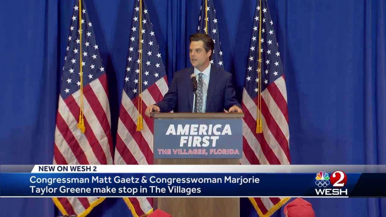 Congressman Matt Gaetz makes stop in The Villages for 'America First' tour
