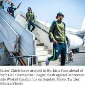 Kaizer chiefs arrived in Burkina faso for their CAF Champions ... See pictures