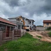 MBOMBELA: A Relationship And A Mansion Brought Down By A TLB And Excavator - What A Loss!