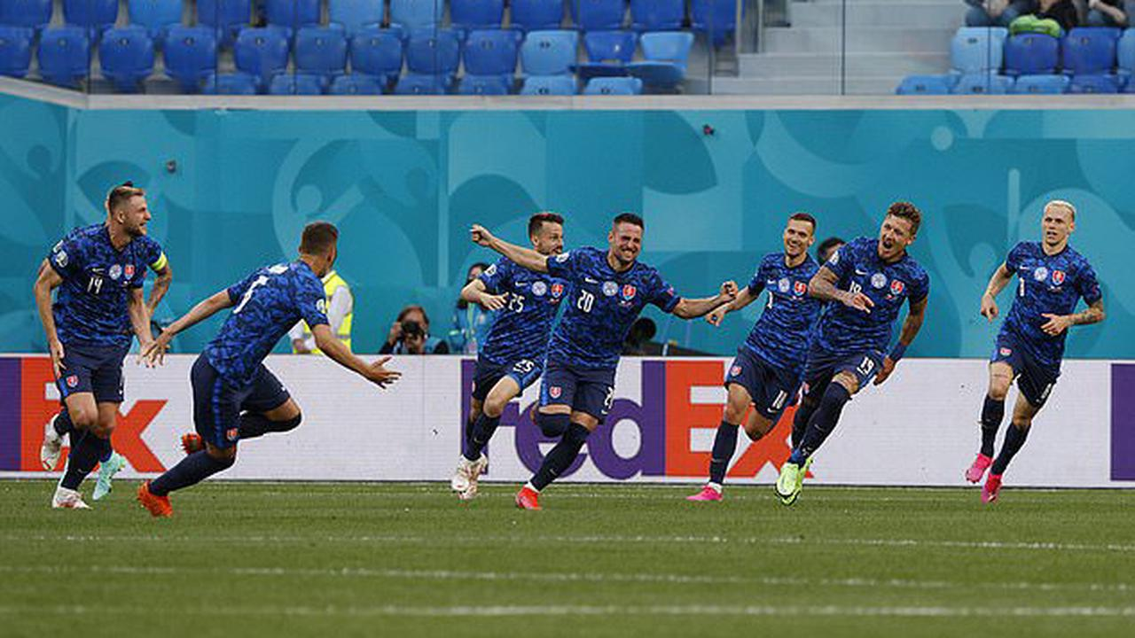 Euro 2020: Wow! Robert Mak produces wonderful nutmeg to beat the defender before his effort bounces off Wojciech Szczesny to give Slovakia the lead in opening win over Poland