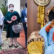 Nigerians Fume Over U.S. Mission Visiting Sarkin Fulani Palace Instead Of Oba Of Lagos - Photos