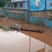 Hours of heavy rainfall cause flood in Sekondi Takoradi.