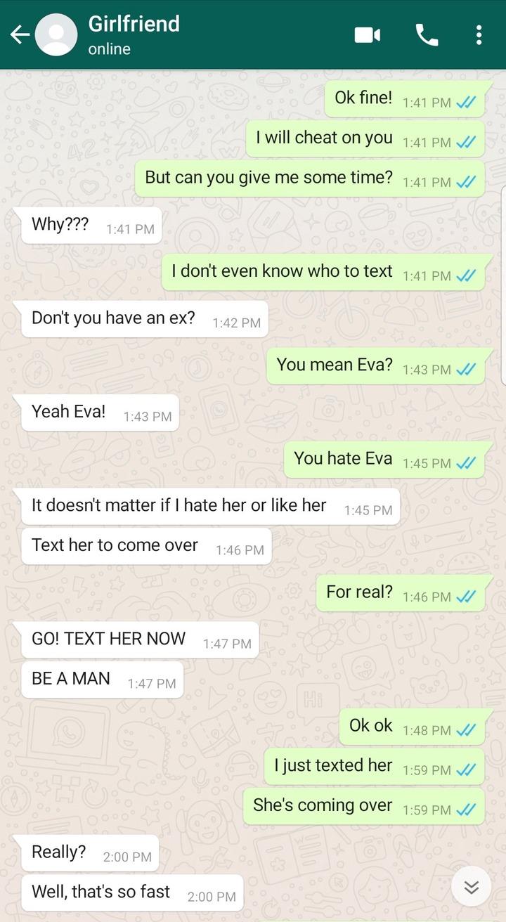 """Cheat On Me Or We Breakup"" - Lady Tells Boyfriend (Screenshots Of Chats) 5"