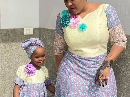Kannywood Actress, Hadiza Gabon Rocks Ankara Dress With Her Beautiful Daughter [PHOTOS]