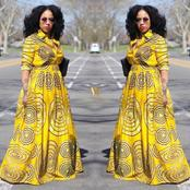 Ladies, Checkout These Stunning African Print Maxi Gown Styles
