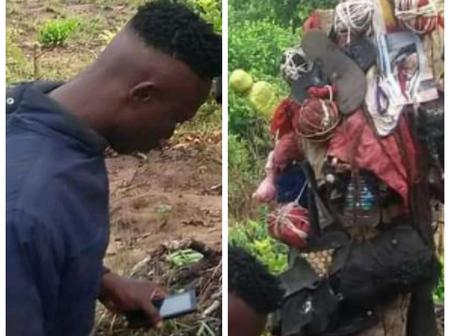 Check Out The Scary Things These Youths Found That Got People Talking After Entering An Evil Shrine