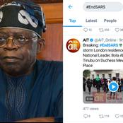 Nigerian protesters in London Storm Residence of BOLA TINUBU
