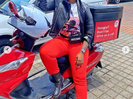 Khuli Chana's wife steps out with her bike. But her boots grabs the attention of her fans.