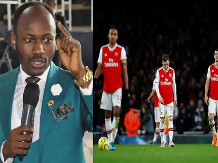 Apostle Suleman Reacts To Arsenal's Draw With Slavia Pahia, See What He Said