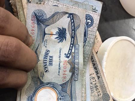 See Pictures Of Old Biafran Currency Note A Young Lady Found In Her Father's House