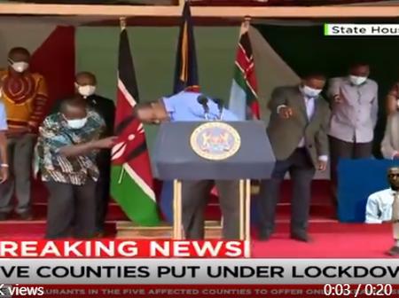 Nani Amechukua Mask ya President Jameni? Kenyans on Twitter Just Cannot Keep Cool About This