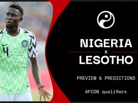 TV Channel to watch Nigeria vs Lesotho and Squad information.