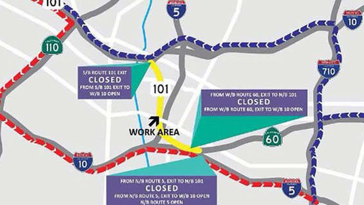2.5-Mile Stretch Of 101 Freeway In Boyle Heights To Be Shut Down Next Weekend