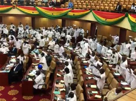 Breaking News: Speaker finally settles majority beef between NDC and NPP in parliament.