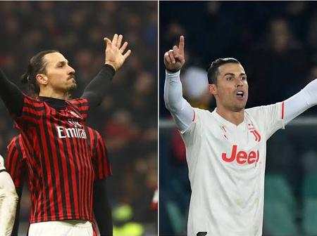AC Milan Striker Ibrahimovic Beats Ronaldo To Set 2 Serie A Record.