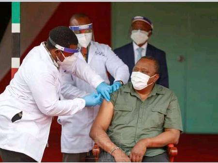 President Uhuru Kenyatta And The First Lady Receive The Covid-19 Vaccine