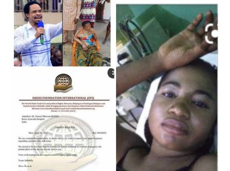 We'll Fly Ada Jesus From Nigeria To India For Kidney Treatment- Ekens Foundation.