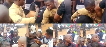Police Officers From Panti Who Allegedly Tried Arresting A Young Man Were Resisted By Residents.