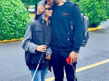 Checkout Adorable Pictures of Flavour and his Adopted Blind Son Semah
